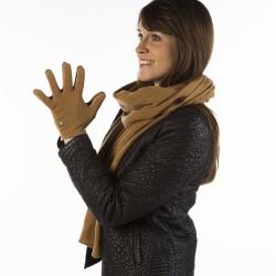 Woman Gloves Paule - Camel