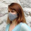Masque Femme Hippocrate Argent