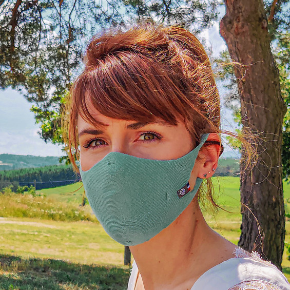 Masque Femme Hippocrate Bleu Paon