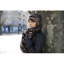 Écharpe Adèle Noir/Camel