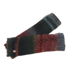 Fingerless Gloves Rafael - Green/Cherry