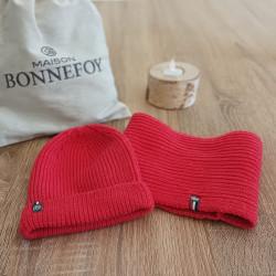 Bonnet Perinne Corail Adulte et Enfant