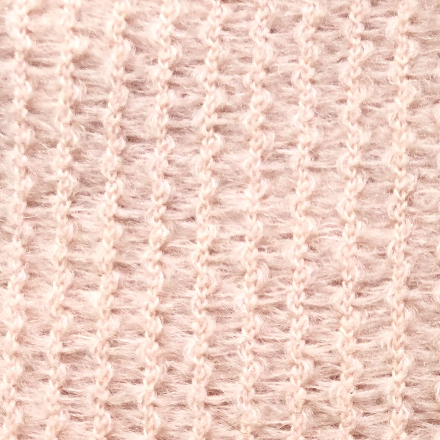 Coloris maille mohair chamallow