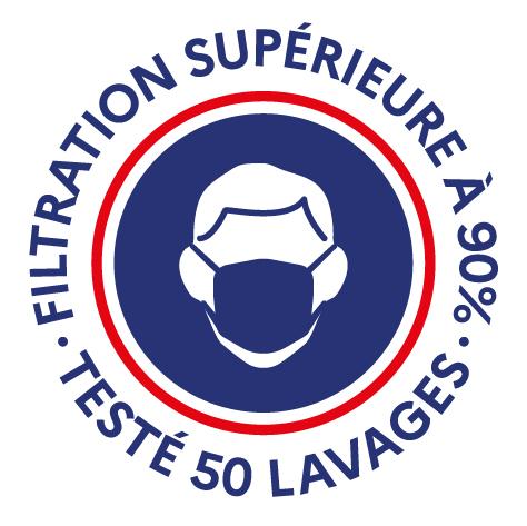 Filtration garantie supérieure 90%